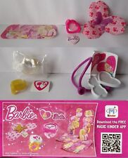 SERIE COMPLETA ACCESSORI BARBIE + 5 BPZ KINDER JOY RUSSIA 2016