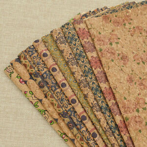 Details about A4 Vintage Soft Cork Fabric Sheet Synthetic Leather DIY  Sewing Material Craft