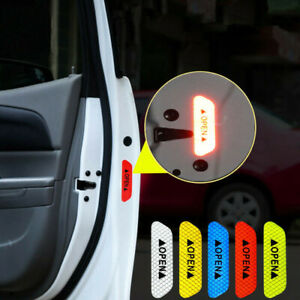 4x Safety Reflective Tape Open Sign Warning Mark Car Door Stickers Accessory New