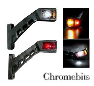 2x Marker Lights 3 Colors Height 130 mm Rubber Base Side Lamps 12//24v