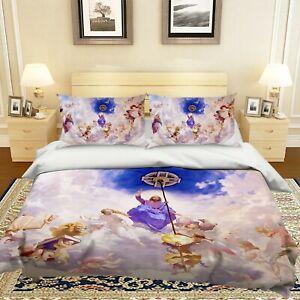 3D Jesus Cross Angel Wings KEP268 Bed Pillowcases Quilt Duvet Cover Kay