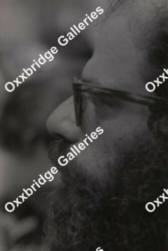 ALLEN GINSBERG Counter Culture Poet NYU Photo Neg WASHINGTON SQUARE SDS 1966 NYC