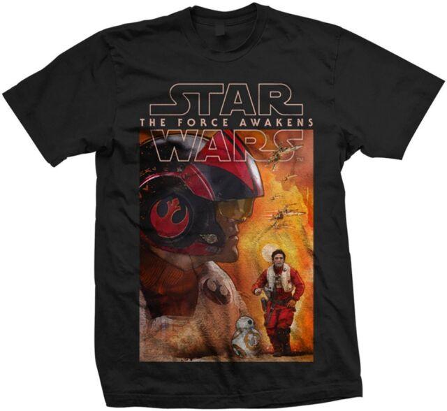 Star Wars T Shirt: Episode VII Dameron Composition - Official Merchandise