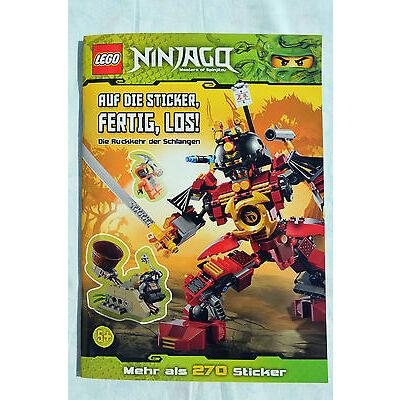 """Lego Ninjago """"Auf die Sticker fertig, los!"""" NEU Sammler Zeitschrift 270 Sticker"""