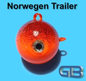 Norwegen-Trailer-50g-75g-140g-170g-Sea-Trailer-Kugelblei-mit-Ose