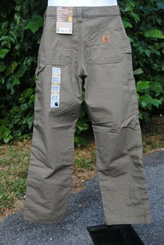 Carhartt B151 Canvas Work Dungaree Pants Light Brown Color