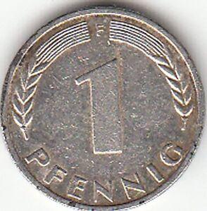1 Pfennig Münze 1950 F Bundesrepublik Deutschland Mark Währung