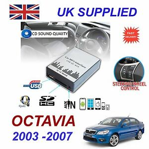 SKODA-OCTAVIA-MP3-SD-USB-CD-AUX-Input-Audio-Digital-CD-Changer-Module-8-pin