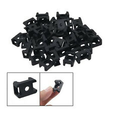 Black 4.5mm Width Cable Tie Base Saddle Type Mount Wire Holder 100Pcs New