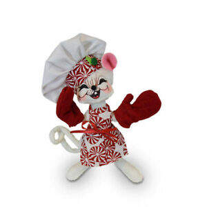 Annalee-Dolls-2019-Christmas-6in-Peppermint-Chef-Mouse-Plush-New-with-Tag