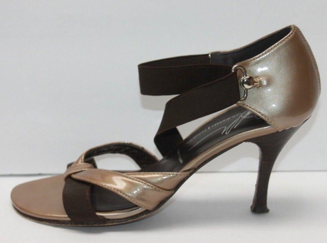 Donald J Pliner Patent Pelle Strappy Heels