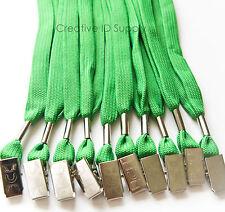 WHOLESALE 100 PCS GREEN ID NAME BADGE STRAP HOLDER NECK LANYARDS BULLDOG CLIP
