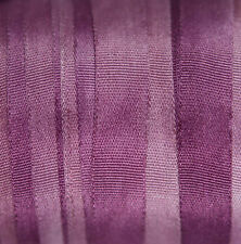 """7mm (1/4"""") Variegated Silk Ribbon - 3 meters Lavender - Cardmaking Scrapbooking"""