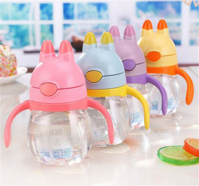 Toddler Baby Kids Children Feeding Drinking Water Straw Bottle Sippy Suction   X