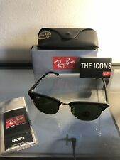 Ray-Ban Clubmaster Sunglasses Rb3016 G-15 Lens 51mm Black / Gold Frame