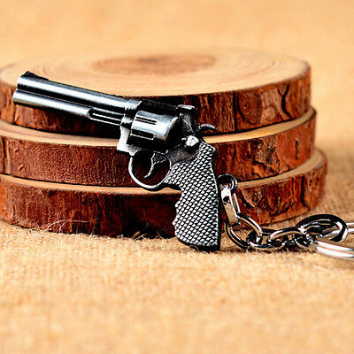 Newly Revolver Pistol Weapon Gun Model Metal Keyring Keychain Mini Key Chain 1PC
