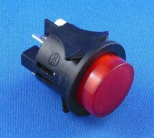 Druckschalter Einbau ø 25mm 250V 16A rot beleuchtet EIN-AUS, Flachstecker 6,3mm