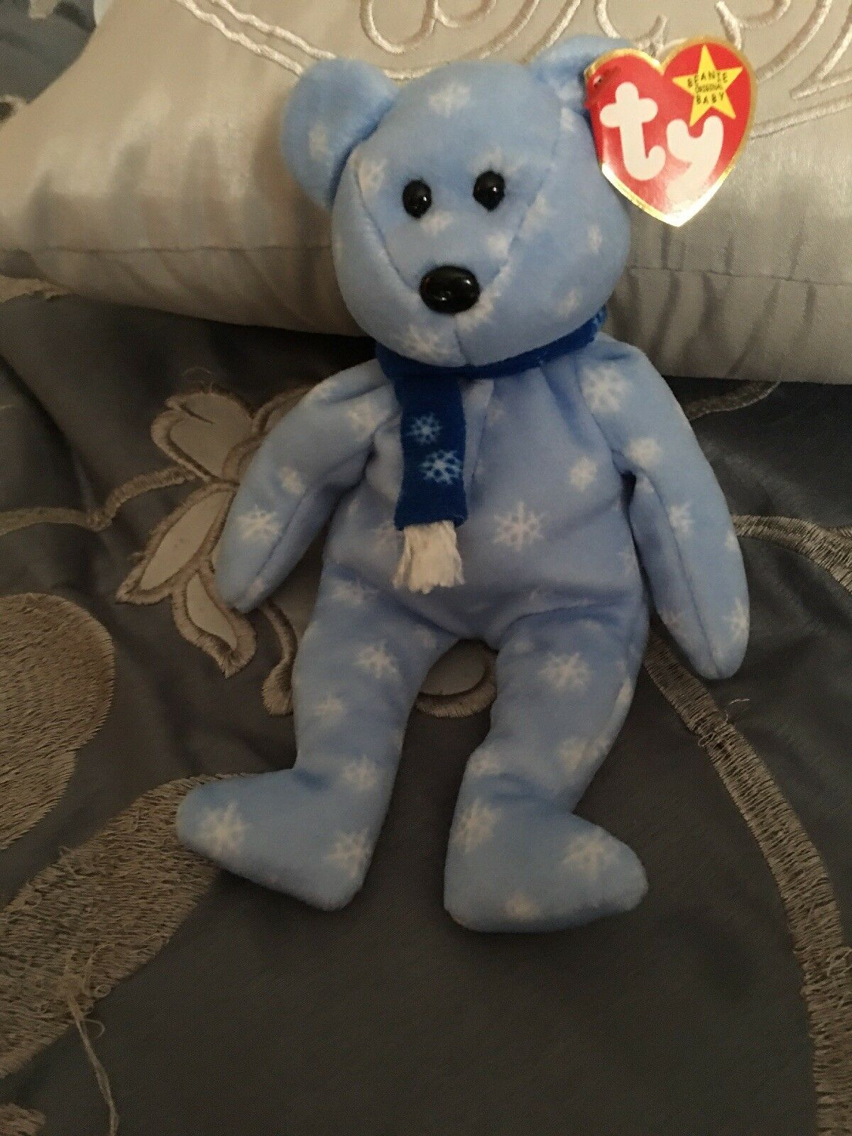 Ty Ty Ty Beanie Baby Holiday Teddy - 1999  - New - Never played with. c291f5