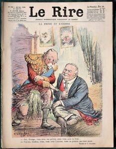 Le-Rire-King-George-V-French-President-1926-French-Comic-Magazine-Leandre