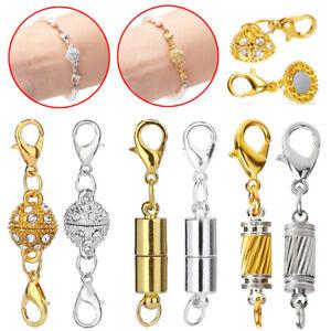Clasp Hook 5Pcs Gift DIY Rhinestone Heart Making Bracelet Necklace Magnetic