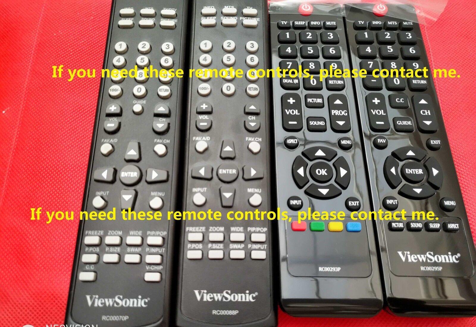 Original New ViewSonic RC00088P LED TV Remote Control