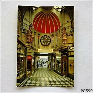 Gog-and-Magog-Royal-Arcade-Gaunts-Clock-Melbourne-Postcard-P599