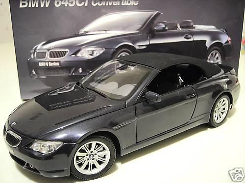 BMW 645Ci CABRIOLET CONVERTIBLE navy bleu  1 18 KYOSHO 08702NB voiture miniature  se hâta de voir