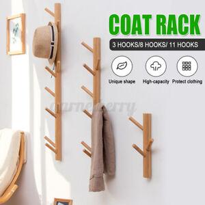 Creative Wall Coat Rack Bamboo Hook North Europe Clothes Hanger Wood Bedroom