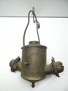Antique old metal angle mfg co ny railroad oil lamp burners hanging image is loading antique old metal angle mfg co ny railroad mozeypictures Image collections