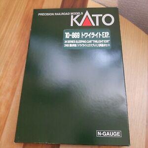 KATO-N-scale-24-Series-Twilight-Express-Basic-6-Car-Set-10-869-Train-Model-Car