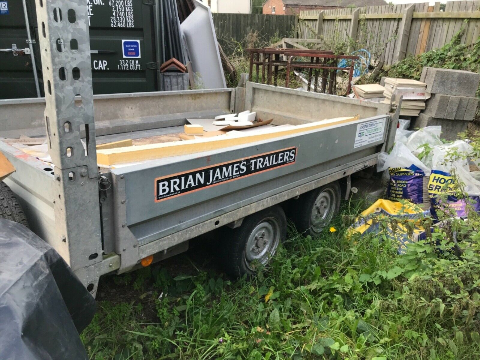 2 ton tipper trailer Brian James all tyres very good Spare never been used .