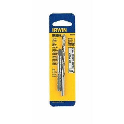 IRWIN HANSON 1/4 - 28 NF Tap and No. 3 Drill Bit Set, 80232