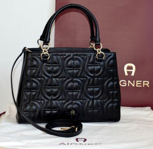 Tasche Leder Olivia Damen Modell Aigner Black Neu X8EAqXw5xB
