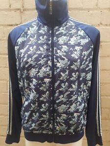Men-s-Adidas-Track-Top-Size-M-Blue-Jacket-Casual