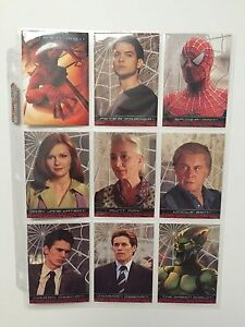 Spider-Man-Movie-Cards-Topps-2002-Complete-Set-3-Chase-Sets-RARE-MUST-HAVE