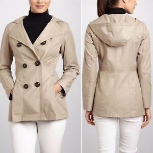 Beige Hooded Tan Coat Trench Double Breasted Nwt Jacket L Taupe Esprit Sisal wqX6IEH