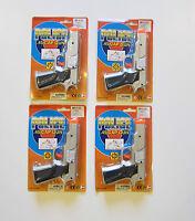 4 Silver Toy Cap Guns 7 Police Pistol Detective Revolver Fires 8 Ring Caps