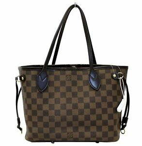 41415becab4a Image is loading LOUIS-VUITTON-Damier-Ebene-Neverfull-PM-Tote-Shoulder-