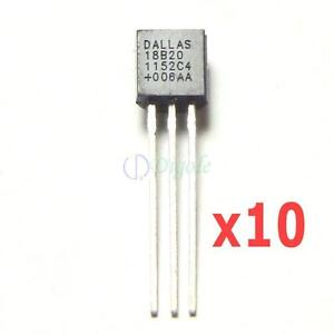 10-PC-Dallas-DS18B20-DS1820-18B20-1820-1-Wire-Digital-Thermometer-for-Arduino