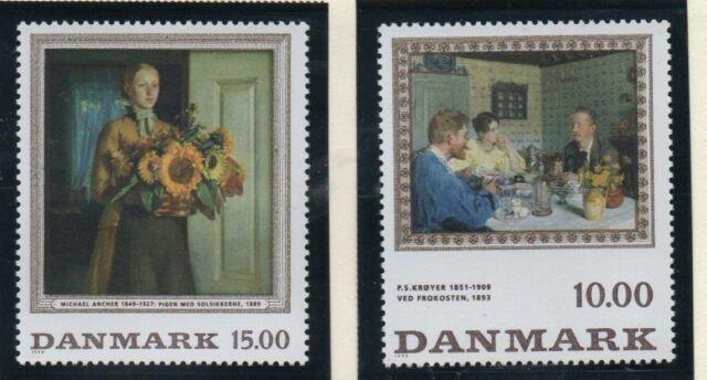 Denmark Sc 1061-62 1996 Paintings stamp set mint NH