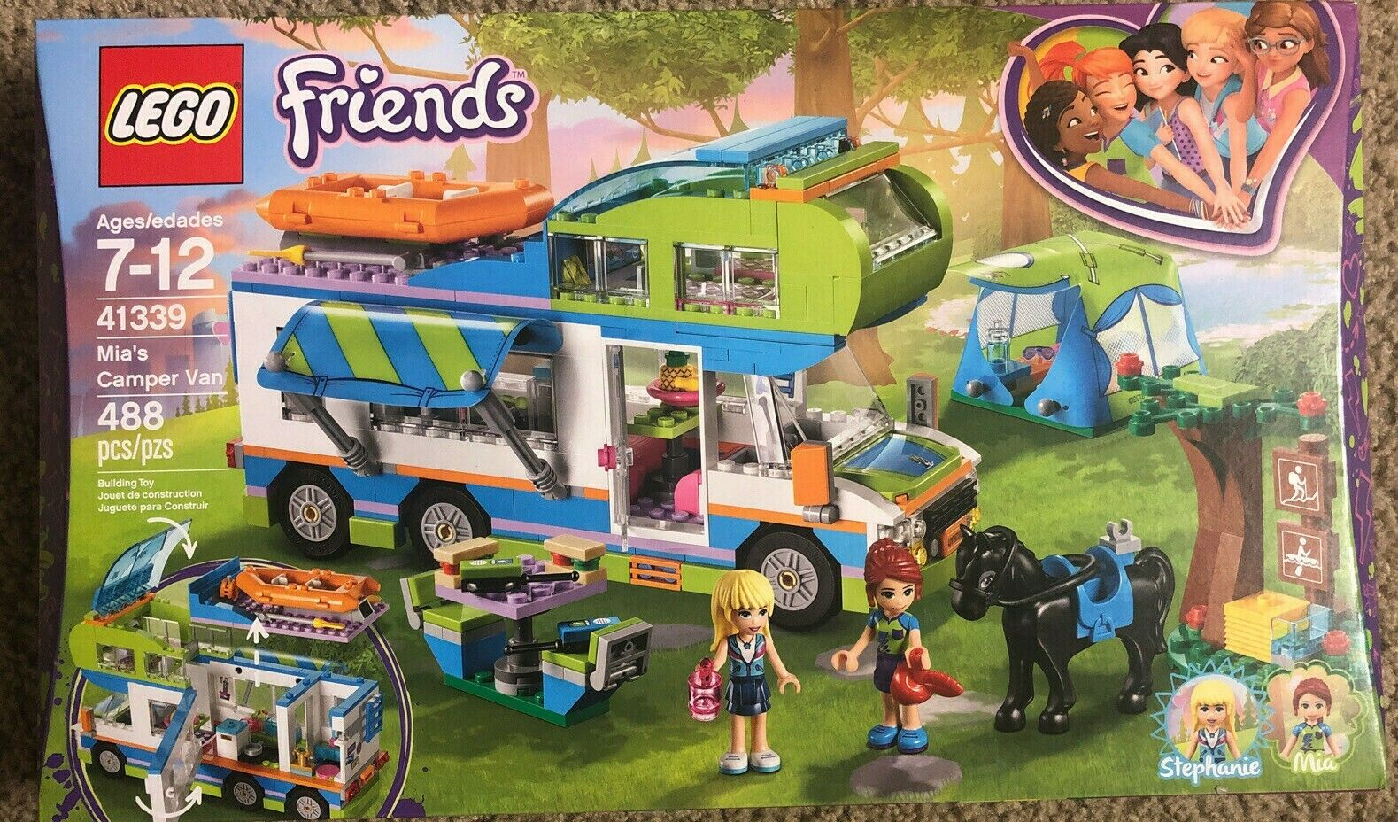 Mia and Stephanie Mini Dolls Build and Play Fun Toys for Kids LEGO 41339 Friends Heartlake Mia/'s Camper Van Playset
