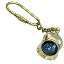 Set Of 4-nautical Maritime Brass Compass Black Pendant /keychain Usa Seller!!! Antiques