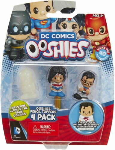 """4 Pack New Ooshies Set 2 /"""" DC Comics Series 1/"""" Action Figure"""