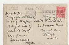 Master Willie West Burrows Road Kensal Rise Willesden 1926 Postcard 066a