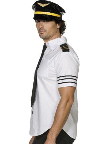 Chapeau Capitaine pour homme costume robe fantaisie fièvre compagnie Mile High Club Pilote Costume