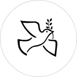 Friedenstaube-25mm-Button