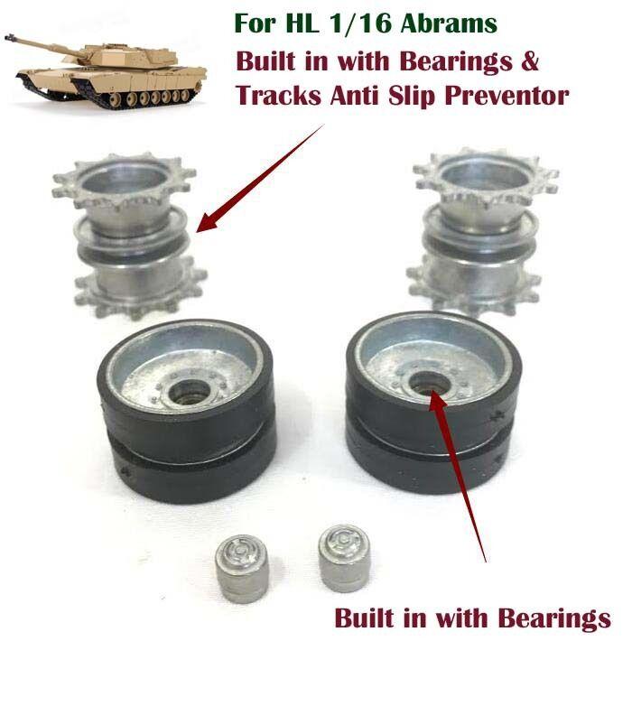Heng Long Abrams 1 16 RC Tank Metal Driving Wheels and Metal Idlers