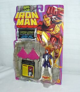 1994-Toy-Biz-Marvel-Comics-Iron-Man-Spider-Woman-5-034-Action-Figure