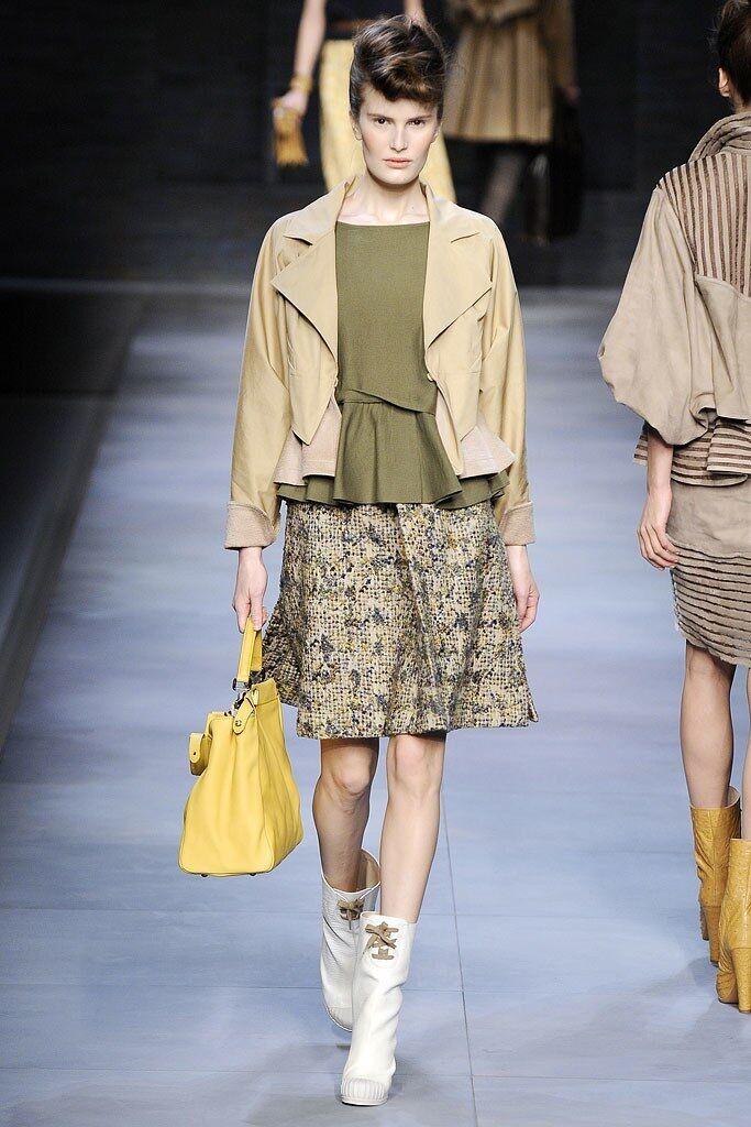 RUNWAY FENDI tweed tweed tweed Jupe Skirt d0284f