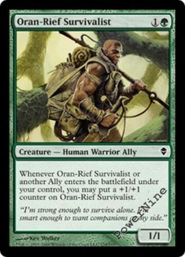 1 FOIL Oran-Rief Survivalist Green Zendikar Mtg Magic Common 1x x1
